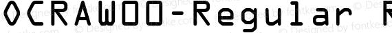 OCRAW00-Regular Regular preview image