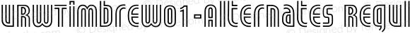URWTimbreW01-Alternates Regular Version 1.00
