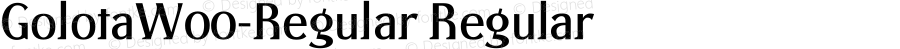 GolotaW00-Regular Regular Version 1.00