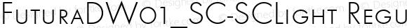 FuturaDW01_SC-SCLight Regular Version 1.00