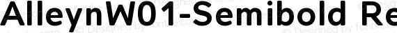 AlleynW01-Semibold Regular preview image