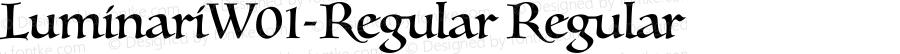 LuminariW01-Regular Regular Version 1.00