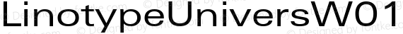 LinotypeUniversW01-Ex Regular preview image