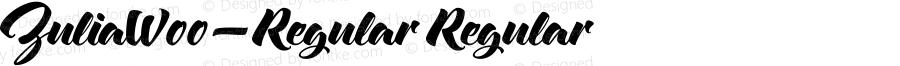 ZuliaW00-Regular Regular Version 1.00