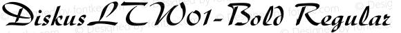 DiskusLTW01-Bold Regular Version 2.02