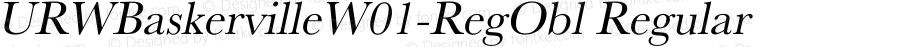 URWBaskervilleW01-RegObl Regular Version 1.00
