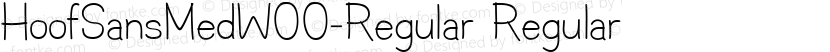 HoofSansMedW00-Regular Regular Preview Image