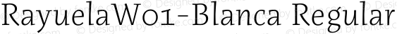 RayuelaW01-Blanca Regular Version 2.00