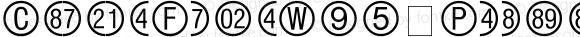 CircleFrameW95-Positive Regular Version 1.00