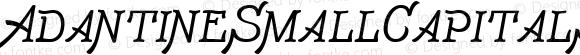 AdantineSmallCapitalsW00-Rg Regular Version 1.00