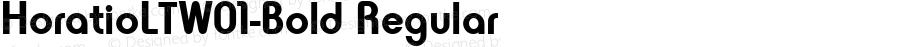 HoratioLTW01-Bold Regular Version 2.3