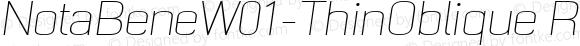 NotaBeneW01-ThinOblique Regular Version 1.00