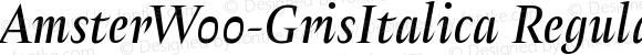 AmsterW00-GrisItalica Regular Version 1.00