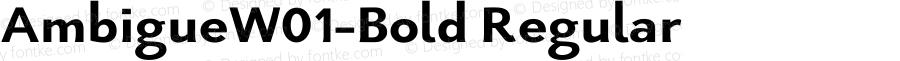 AmbigueW01-Bold Regular Version 1.02