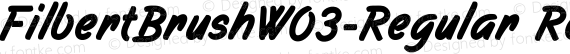 FilbertBrushW03-Regular Regular preview image