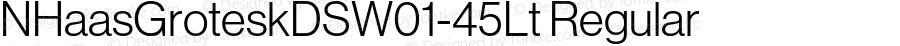 NHaasGroteskDSW01-45Lt Regular Version 1.01
