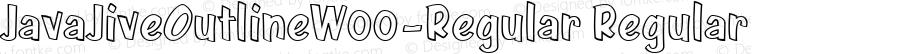 JavaJiveOutlineW00-Regular Regular Version 1.00