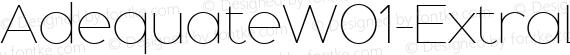 AdequateW01-ExtraLight Regular preview image