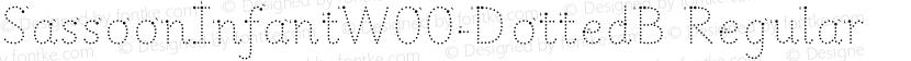 SassoonInfantW00-DottedB Regular Preview Image