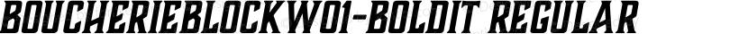 BoucherieBlockW01-BoldIt Regular Preview Image