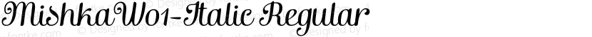 MishkaW01-Italic Regular Preview Image