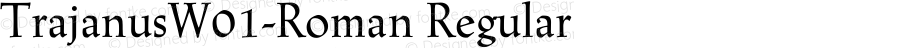 TrajanusW01-Roman Regular Version 2.01