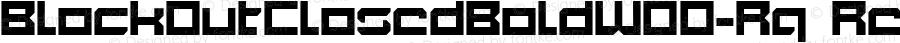 BlockOutClosedBoldW00-Rg Regular Version 1.10