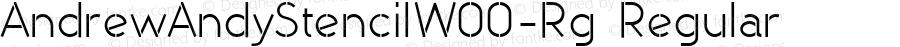 AndrewAndyStencilW00-Rg Regular Version 1.60