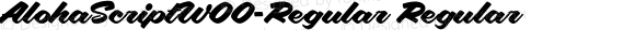 AlohaScriptW00-Regular Regular Version 2.00
