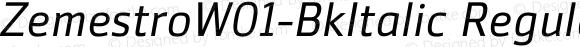 ZemestroW01-BkItalic Regular Version 1.02