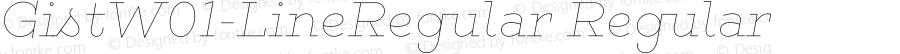 GistW01-LineRegular Regular Version 1.00