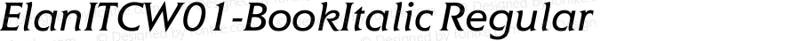ElanITCW01-BookItalic Regular Version 1.01
