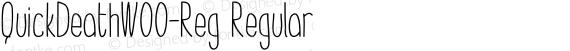 QuickDeathW00-Reg Regular preview image