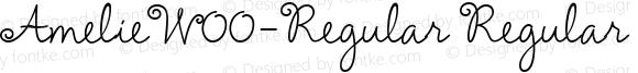 AmelieW00-Regular Regular Version 1.00