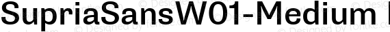 SupriaSansW01-Medium Regular preview image