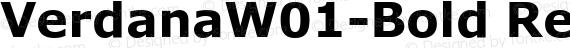 VerdanaW01-Bold Regular preview image
