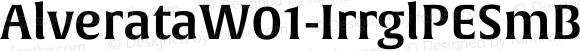 AlverataW01-IrrglPESmBd Regular Version 1.00