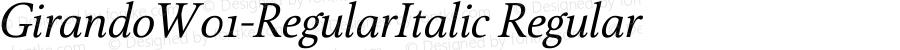 GirandoW01-RegularItalic Regular Version 1.00