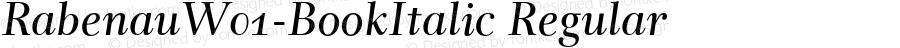 RabenauW01-BookItalic Regular Version 1.00