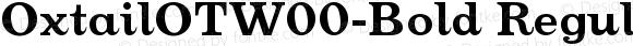 OxtailOTW00-Bold Regular Version 3.10