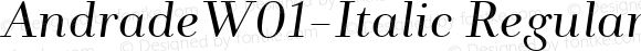 AndradeW01-Italic Regular Version 1.00