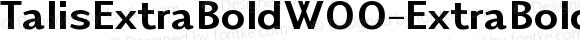 TalisExtraBoldW00-ExtraBold Regular