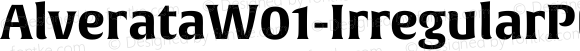 AlverataW01-IrregularPEBd Regular Version 1.00