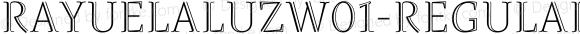 RayuelaLuzW01-Regular Regular Version 2.00