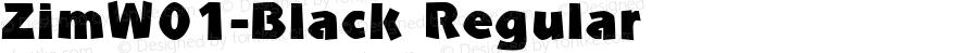 ZimW01-Black Regular Version 1.1