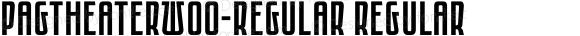 PAGTheaterW00-Regular Regular Version 1.00