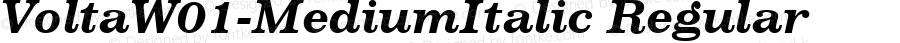 VoltaW01-MediumItalic Regular Version 1.10