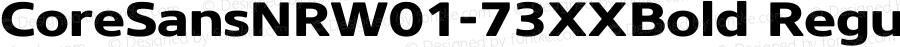 CoreSansNRW01-73XXBold Regular Version 1.1