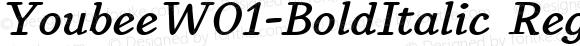 YoubeeW01-BoldItalic Regular Version 1.60