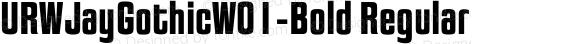 URWJayGothicW01-Bold Regular Version 1.00
